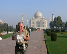 Rolly at the Taj Mahal 2006