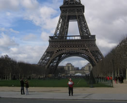 Patrick at the Eiffel Tower 2007