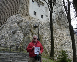 Rolly at  Castle Bran, Transylvania, better known as the castle of Vlad Tepes Dracula 2010