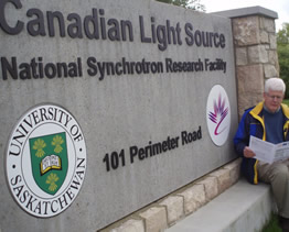 Donald at the Canadian Synchrotron Light Source 2010